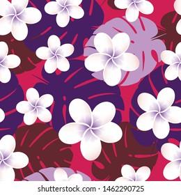 Seamless vector tropical pattern. Vector illustration.