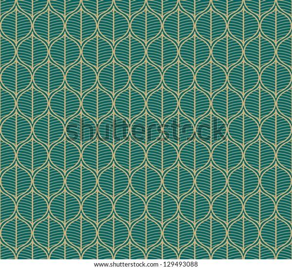 Seamless vector vintage plant pattern background