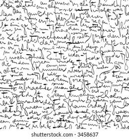 Seamless vector wallpaper based on Kafka's manuscript