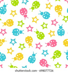 Seamless vector wallpaper color pattern for kids