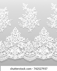 Seamless Vector White Lace Pattern