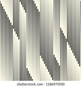 Seamless Vertical Line Background. Vector Geometric Pattern. Monochrome Regular Texture
