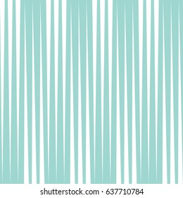 Seamless vertical line pattern. Vector blue and white stripe background. Wrapping paper texture.