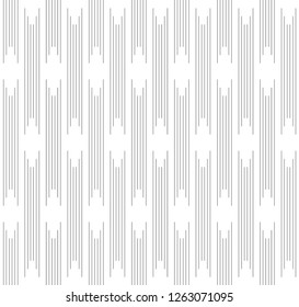 Seamless of vertical lines vector. Design stripe rhombus black on white background. Design print for illustrations, textile, wallpaper, background, banner. Set 1