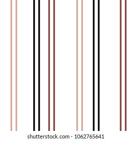 Seamless Vertical Stripe Pattern. Vector Colored Background.