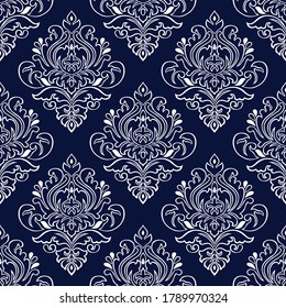 Seamless Victorian damask wallpaper pattern