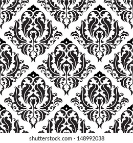 Seamless victorian pattern isolated on white