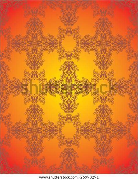 Seamless victorian wallpaper