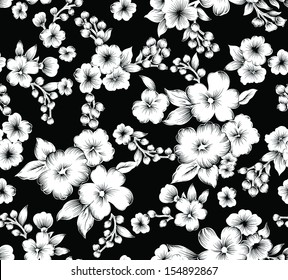 Flores En Blanco Y Negro Stock Vectors Images Vector Art