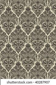 seamless vintage damask pattern ,vector illustration