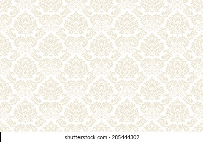 Seamless vintage floral wallpaper pattern. Vector image.
