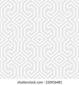 Seamless vintage gray pattern. Ethnic vector geometric textured background from Sulawesi island, Indonesia.