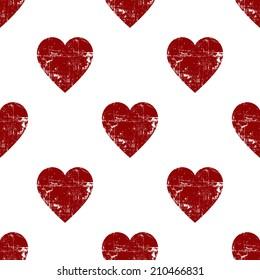 Seamless vintage heart pattern