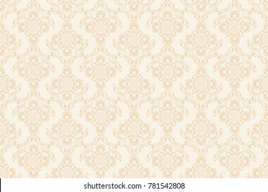 Seamless vintage ornament on background. Floral ornament on background. Wallpaper pattern