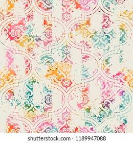 Seamless vintage pattern with an effect of attrition.