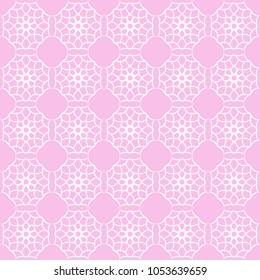Seamless vintage pattern with quatrefoils. Seamless vector background.