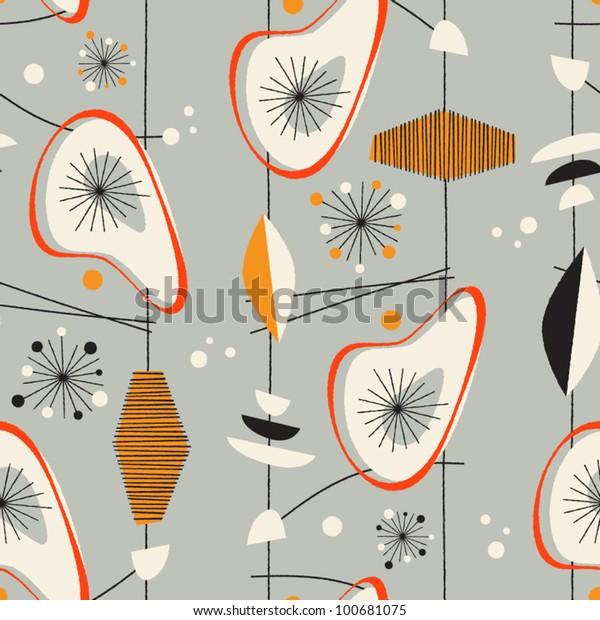 Бесшовный винтажный рисунок - Vector EPS10.