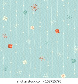 seamless vintage winter pattern