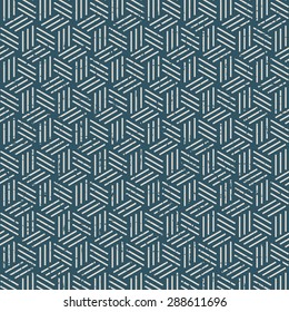 Seamless vintage worn out 3D line box pattern background. Seamless Background image of vintage worn out 3D line box pattern.