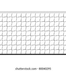 Seamless volleyball net. Vector.
