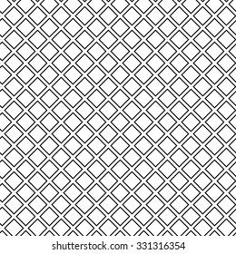 Seamless waffle texture black and white vector illustration