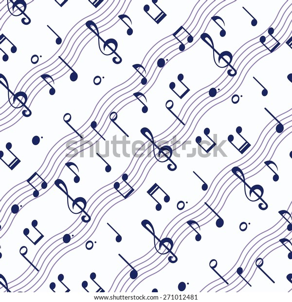 Seamless Wallpaper Music Notes Stock Vector Royalty Free
