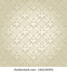 Seamless wallpaper pattern. Seamless floral ornament on background. Wallpaper pattern. Vector illustration