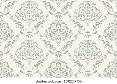 Seamless wallpaper pattern. Floral ornament on background. Seamless pattern for your design. Wallpaper pattern