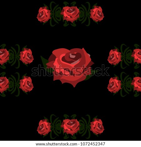 Seamless Wallpaper Pattern Of Red Roses On A Black Background Wedding Decorations