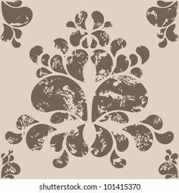 A seamless wallpaper vector pattern for design