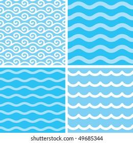 Seamless water wave patterns