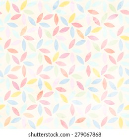 seamless watercolor floral pattern vector background