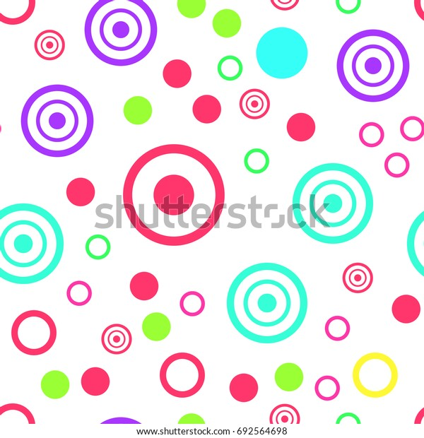 Seamless watercolor illustration of colorful dots. for background texture, wrapping paper, textile, home design. Nature organic pattern.
