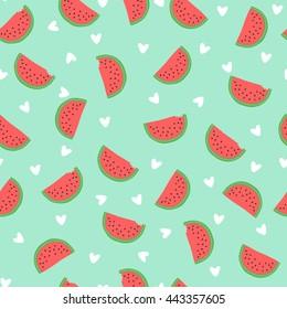 Seamless watermelon pattern. Cute watermelon pattern.