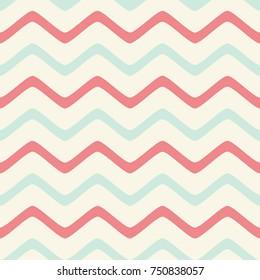 Seamless wavy lines pattern