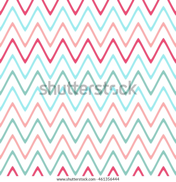 Seamless wavy lines pattern with white background. Vector repeating texture.