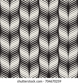 Seamless wavy pattern. Repeating vector texture. Stylish wavy background. Contemporary graphics with waves.