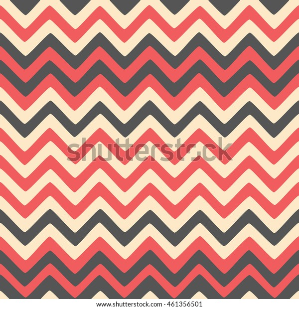 Seamless wavy stripes pattern. Vector repeating texture.