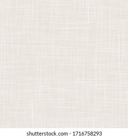 Seamless white grey woven linen texture background. French grey flax hemp fiber natural pattern. Organic fibre close up weave fabric surface material. Ecru natural gray cloth textured rough canvas.
