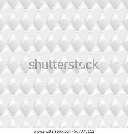 Seamless White Leather Texture Vector Background Luxury Textile Design Interior And Furniture