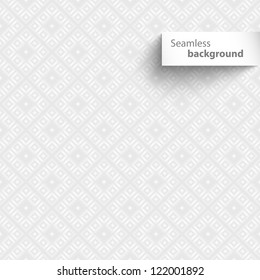 Seamless white square geometric tiles texture. Vector illustration