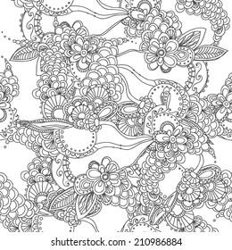 seamless white-black pattern