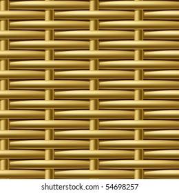 Seamless wicker pattern. Vector.