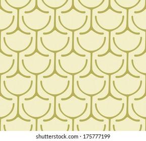 Seamless Wine Glass Pattern
