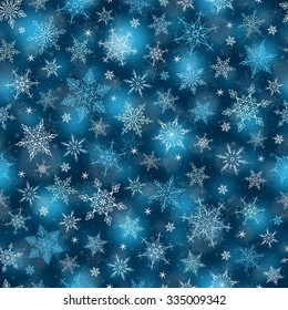 Seamless Winter Background - Snowflakes Pattern Illustration Vector Seamless Pattern for Christmas Winter Theme
