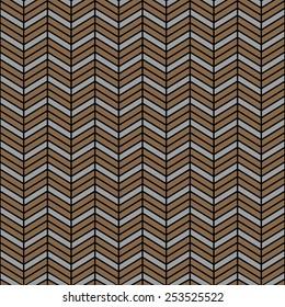 Seamless wooden interchanging chevrons pattern vector