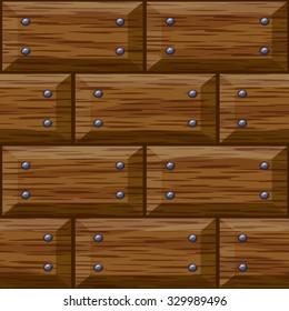 seamless wooden panel door texture with nails