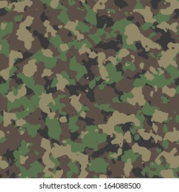 Seamless woodland camo pattern vector. 200+ camo textures in my portfolio.