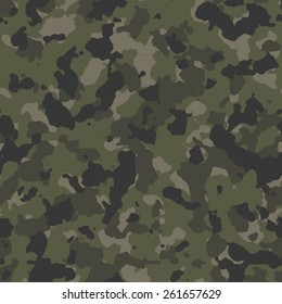 Seamless woodland camouflage textile pattern vector
