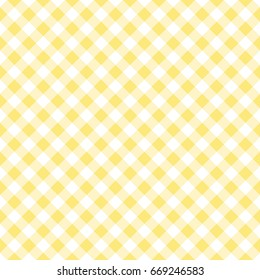 Seamless yellow gingham pattern